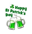 happy saint patrick day greeting card with text vector image vector image