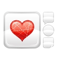 Happy Valentines day romance love Dotted line vector image vector image