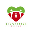 heart family logotype vector image