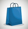 icon bag blue shop paper design vector image vector image