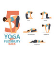 infographic 5 yoga poses for back flexibility vector image