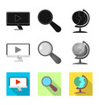 isolated object education and learning icon vector image vector image