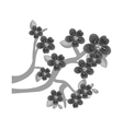 japanaese culture tree icon vector image