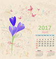 lovely bouquet of crocus on grunge background vector image vector image