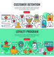 loyalty program customer retention banners vector image