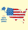 map united states america vector image vector image