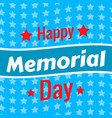 memorial day background vector image