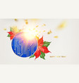 microprocessor circuitry christmas design with red vector image vector image