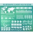 Modern big infographic elements chart set on vector image vector image