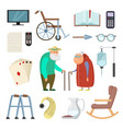 old couples with different assistants tools for vector image vector image