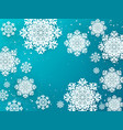 paper flakes background christmas 3d winter vector image vector image