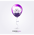 Party flying balloon with streamer isolated on vector image