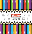 pencils colors utensils to back school background vector image vector image