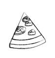 pizza slice food vector image vector image