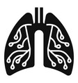 pneumonia lungs icon simple style vector image vector image