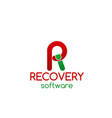 recovery software icon vector image