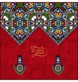 Red oriental decorative template for greeting card