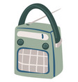 retro radio with antenna and buttons player vector image vector image