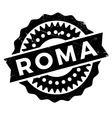 Roma stamp rubber grunge vector image