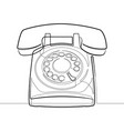 rotary phone retro one line abstract icon vector image