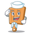 sailor kitchen board character cartoon vector image vector image
