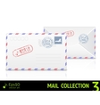 Sea mail envelope isolated on white background vector image vector image