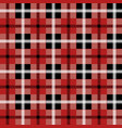 seamless red tartan pattern with white stripes vector image vector image