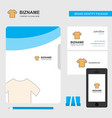 shirt business logo file cover visiting card and vector image vector image