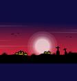 silhouette pumpkin in grave scenery vector image vector image