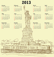 Statue of liberty vintage 2013 calendar vector | Price: 1 Credit (USD $1)
