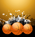 stylish basketball background vector image