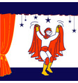 talent show spectacle schoolboy wear superhero vector image