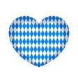 textured heart shape for oktoberfest vector image