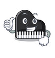 thumbs up piano character cartoon style vector image