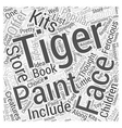 tiger face painting Word Cloud Concept vector image vector image