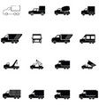 truck icon set vector image