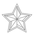 united states america emblemwith star shape vector image vector image