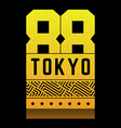 vintage on theme tokyo vector image vector image