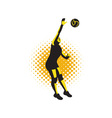Volleyball Player Spiking Ball Retro vector image vector image