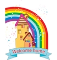 Welcome home vector image