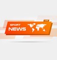world news live banner on wavy lines background vector image