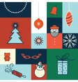 merry christmas icon card vector image