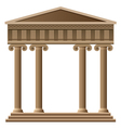 ancient greek architecture vector image