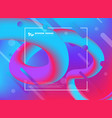 abstract colorful trendy design fluid line vector image vector image