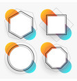 abstract geometric frames set template vector image vector image