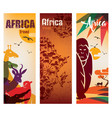africa travel background decorative symbol of vector image vector image