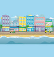 asian street with colorful buildings vector image vector image