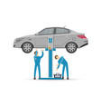 auto mechanics in uniform icon vector image