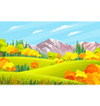 autumn landscape with mountains green hills