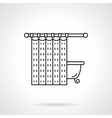 Bathroom curtain flat line icon vector image vector image